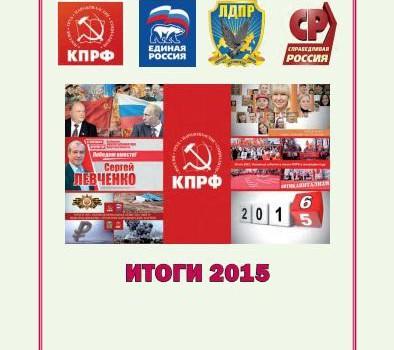 Думские партии. Итоги 2015 года