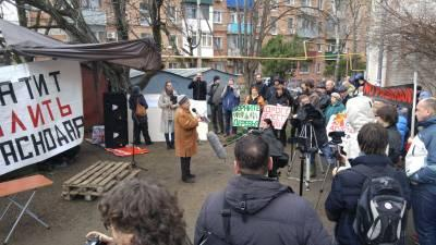 Мэр Евланов проблему создал, а решать будем все вместе. В Краснодаре состоялся митинг против вырубки деревьев