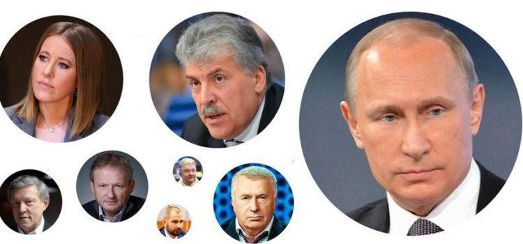 Кандидаты в президенты в телеэфире. 4 – 10  марта 2018 года