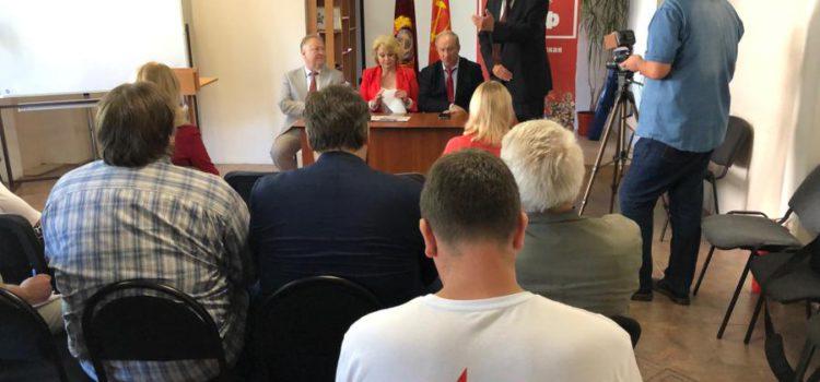 В Великом Новгороде прошла пресс-конференция В.Ф. Рашкина и С.П. Обухова
