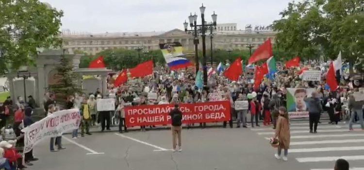 Сергей Обухов про неумирающий Хабаровский протест под красными знамёнами